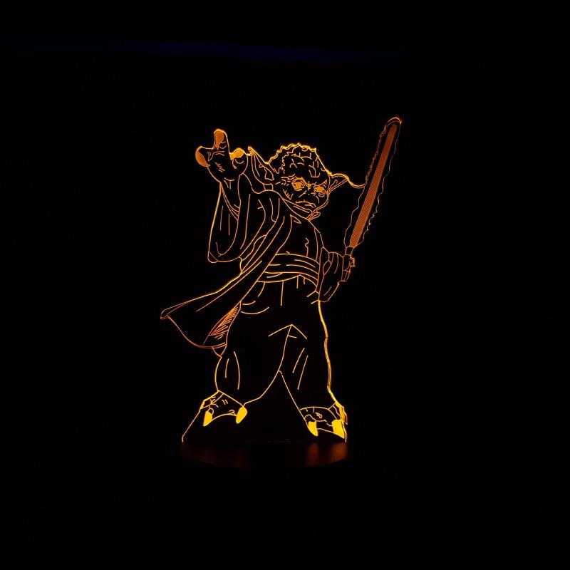 Luzes da Noite figura mestre yoda jedi líder Estilo : New Fashion Cool