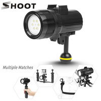 SHOOT 1000LM Underwater Diving Flashlight Torch Light For GoPro Hero 7 6 5 xiaomi mija 4 k sjcam Action Video Camera Accessory