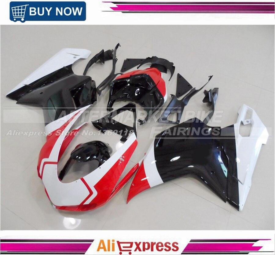 100% Легко Установка Обтекатели для Ducati Corse 1098 1198 848 gloss/матовую поверхность ABS Пластик обтекатель Наборы