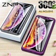 ZNP 360 Tam Kapak Telefon iphone için kılıf X 8 6 6 s 7 Artı 5 5 s SE PC Koruyucu Kapak için iPhone XS Max XR Kılıf Kapak Ile Ca...