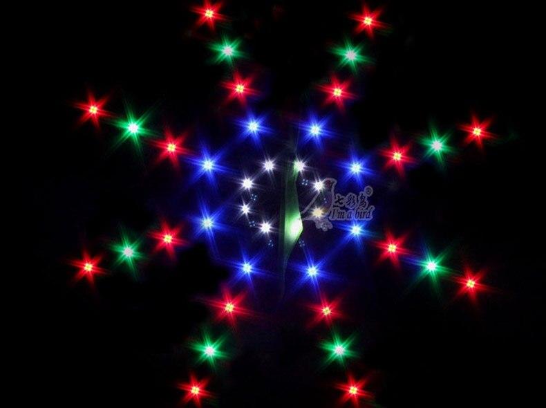 Nouvelle arrivée de haute qualité en plein air sport amusant LED univers cerf-volant avec des lumières bon vol sortie d'usine