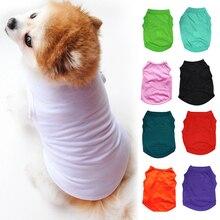 Удобная футболка для домашних животных; летняя хлопковая жилетка; Одежда для маленьких и средних собак; цвет белый, красный, зеленый