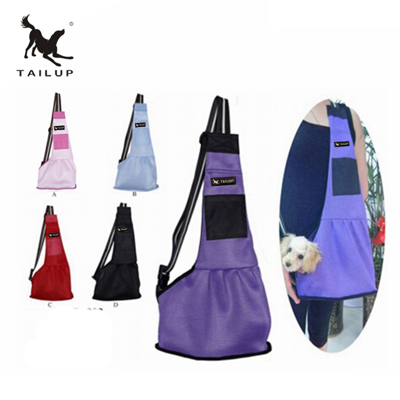 Tailup Pet Dog Carrying Bag Mesh Cloth Puppy Chihuahua Yorkies Small Cat Slings Backpack