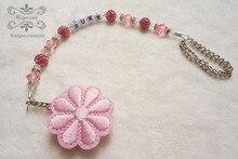 Персонализированные-Любое имя Принцесса розовый цветок Bling Индивидуальные pacifier клипы/соска сеть держатель Манекен клип/Прорезыватели Для Зубов клип ребенка
