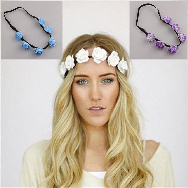 floral headdress ring flower headbands hair bands popular