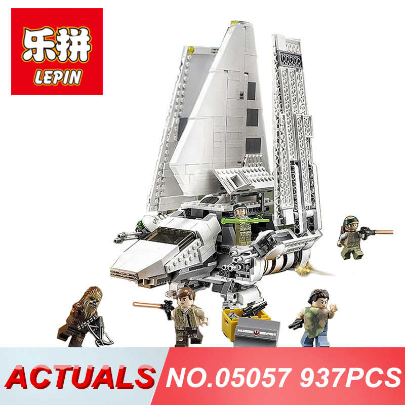 Lepin 05057 Star Wars Building Blocks The Imperial Shuttle Model Compatibel Legoing 75094 Bluding Bricks Toys for Children wange mechanical application of the crown gear model building blocks for children the pulley scientific learning education toys
