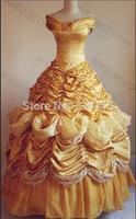 Belle Costume Adult Princess Belle Beauty And Beast Costume Cosplay Halloween Costumes Dress Custom Made Withe