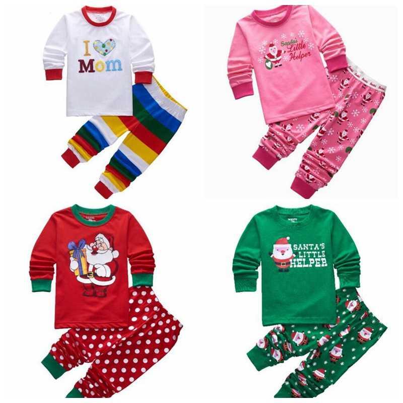 5097969f50 Kids Christmas Pajama Set Children s Clothing Set Cartoon Boys Girls  Sleepwear 2-7Years Kids Pyjamas