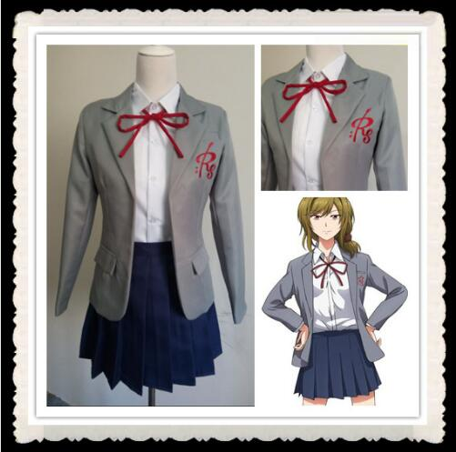 GANGAN ONLINE Yuzuki Seo Costume for kids anime cosplay clothes plus size japanese school uniform skirt for girls Send socks