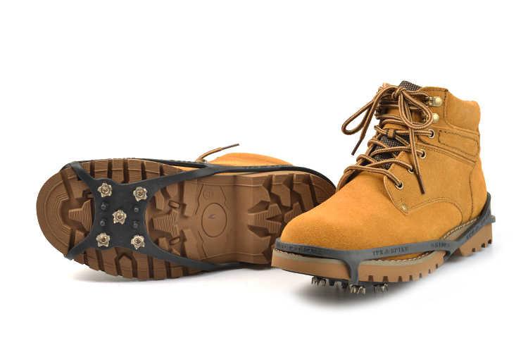 5 dientes circulares crampones montañismo día lluvioso 1 de cubiertas antideslizantes para zapatos