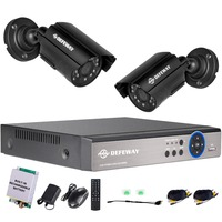 DEFEWAY 1080N P2P 4 Channel System Video Surveillance DVR KIT 2PCS Outdoor IR Night Vision 1