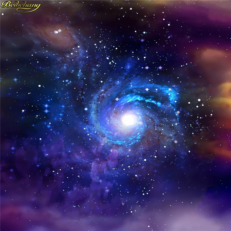 beibehang 3d wallpaper Starry galaxy universe night sky stars black hole zenith ceiling background painting mural