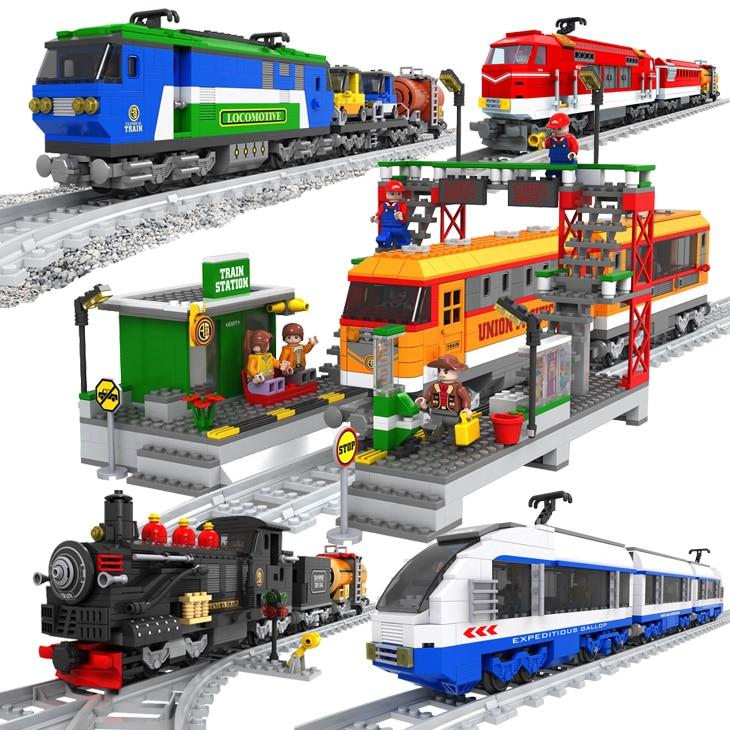 Ausini Trains 406 PCS Building Blocks,Classical Train,Vintage Railway Train Toy