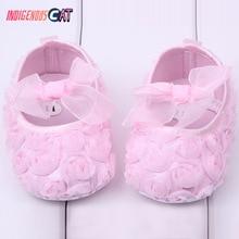 Baby Girl Newborn Shoes Spring Summer Sweet Very Light Mary Jane Big Bow Knitted Dance Ballerina Dress Pram Crib Shoe