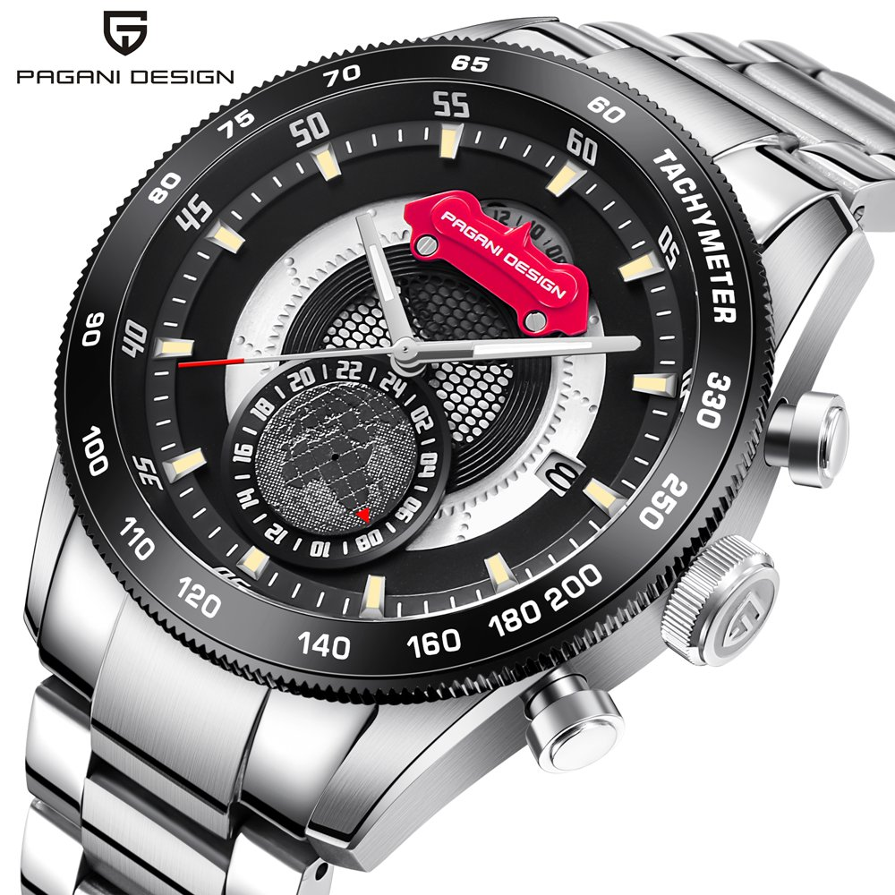 PAGANI DESIGN Sport Watches Men Top Brand Luxury Steel Strap Quartz Men's Watch Military Male Clock Date Relogio Masculino Saat reloj hombre pagani design sport leather strap watches men top brand luxury multifunction quartz watches clock relogio masculino