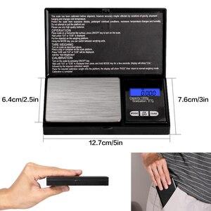 Image 2 - ميزان مجوهرات 0.01g/0.1g عالي الدقة نطاق 100g 1000g الميزان المصغر ميزان الجيب الرقمي LCD وزن الميزان لأدوية المطبخ