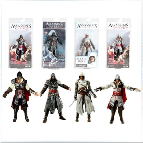 4pcs/set NECA Assassin's Creed Ezio PVC Action Figure Collectible Model Toys Dolls Sets 7 18cm AC005 neca the texas chainsaw massacre pvc action figure collectible model toy 18cm 7 kt3703