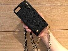 Stylowa torba na portfel na karty kredytowe Crossbody skrzynki pokrywa z paskiem długi łańcuch na Iphone 12 11 PRO XS MAX XR X 6S 7 8 plus etui