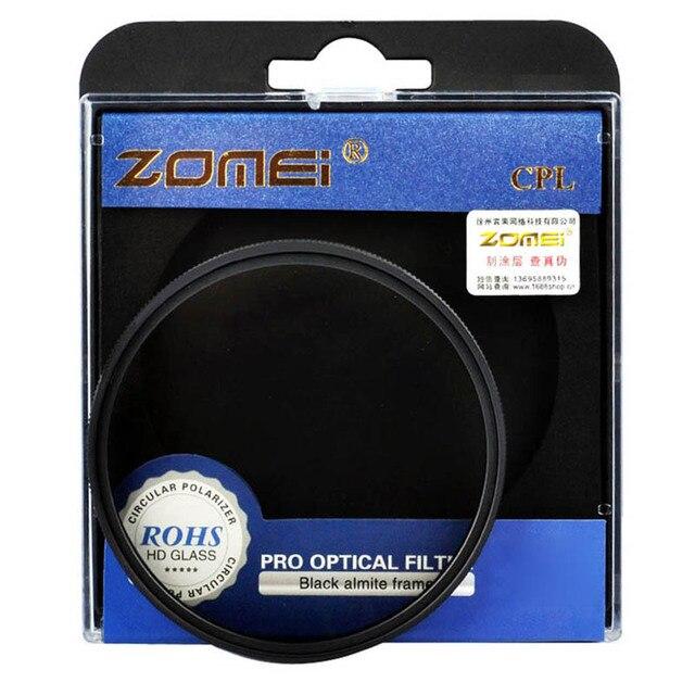 Zomei 49/52/55/58/62/67/72/77/82 CPL Поляризатор фильтр Циркулярный Поляризационный Фильтр для Canon Nikon Sony Olympus Pentax Camera Lens
