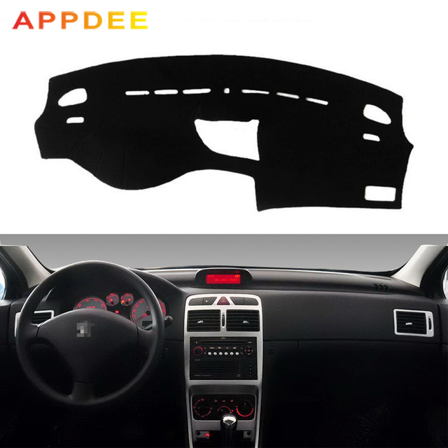 APPDEE Car Dashboard Cover Dash Mat For Peugeot 307 Sun Shade DashMat Pad  Carpet Anti-UV Automobile Protector Car Styling 8fd6859ed7d