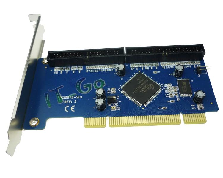 PCI To 2 Port IDE Ports Ultra ATA 133 Raid Controller Card Sil0680
