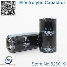 2 шт./лот 250 В 1000 мкФ радиальный DIP Алюминий электролитический Конденсаторы размер 25*45 1000 мкФ 250 В