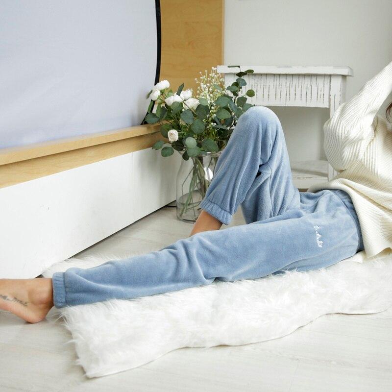 Winter Pyjama Hosen Warme Lounge Tragen Koreanischen Stil Süße Hause Hosen Lange Schlaf Hose Hose Pantalon Pyjama Femme Zl1307 Mit Dem Besten Service Schlafhosen