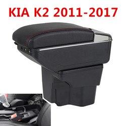Podłokietnik ze schowkiem dla rosji KIA K2 Rio 3 2016 2012 2015 2014 2013 2012 samochodów pamięci masowej USB organizator skórzany uchwyt na kubek do samochodu akcesoria|Podłokietniki|Samochody i motocykle -