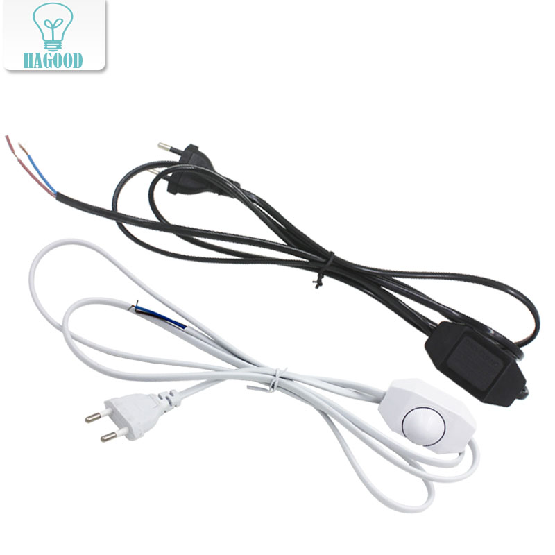 180cm EU Plug Dimmer Light Button Switch Lamp Cord Wire Plug Switching Line Cable Power for Christmas LED lantern аксессуар защитное стекло sony xperia xa1 ultra solomon full cover black