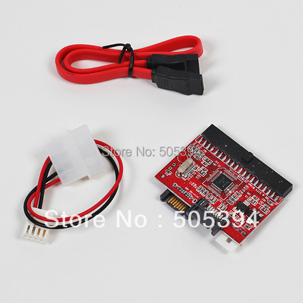 """2 in 1 SATA to IDE Adapter IDE to SATA Converter 40 pin 2.5"""" inch Hard Disk Driver Support for ATA 133 100 HDD CD DVD Adaptor"""