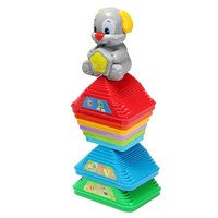 2209-11 Kids Colorful Stacking Dog Pile Up Tower Toy Learning Plaything Cups Counting Stack Cups Blocks