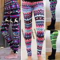 High Quality 2016 Cozy Women Winter Christmas Reindeer Snowflake Striped Knitted Elastic printed Leggings Xmas Fitness Pants