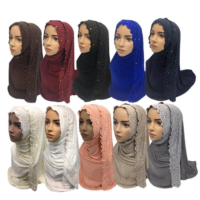Angebot Baumwolle Moslemisches Hijab Schal Frauen Islamische Turban