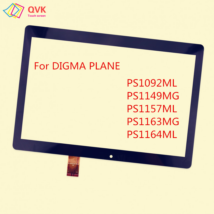 New 10.1 Inch For Digma Plane 1537E 1541E 1550S 1551S 1710T 3G 4G Capacitive Touch Screen Panel PS1092ML PS1157ML PS1163MG