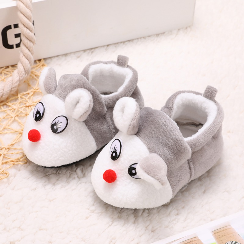 Baby Cotton Shoes Autumn Winter Warm Newborn First Walkers Cute Cartoon Small Fox Soft Bottom Baby Toddler Shoes