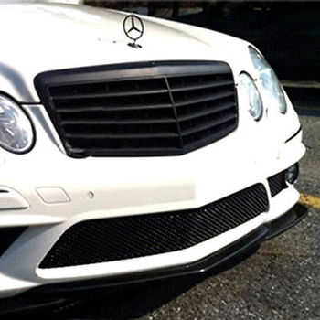 Matt Black Front Hood Grille Grill For Mercedes Benz W211 Sedan 2002-2007 grille