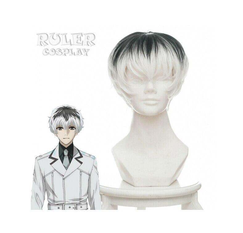 Tokyo Ghoul:re Sasaki Haise Cosplay Wig kaneki ken Wig Cosplay Anime White Black Short Hair Wig Halloween Carnival wig for men