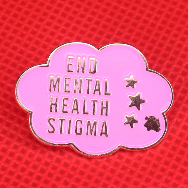 End Mental Health Stigma Enamel Pin Stop Mental Illness Brooch