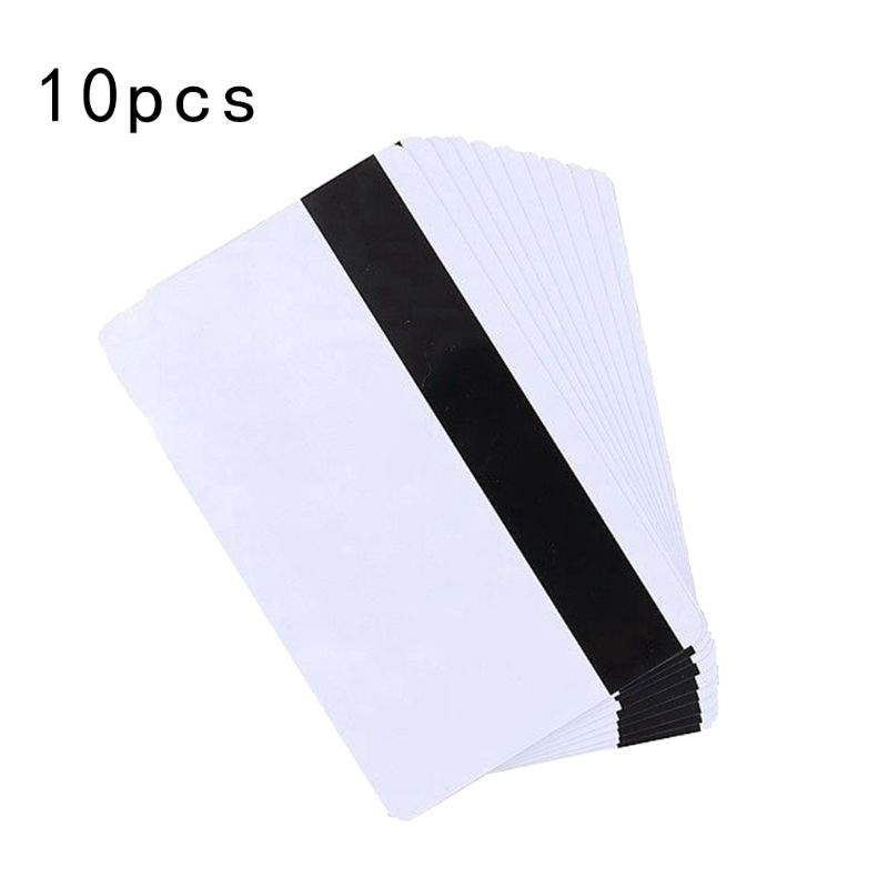 Free Shipping 10PCS High Resistance Blank PVC Magnetic Stripe Card 2750 OE Hi-Co 3 Track Magnetic Card For Access Control System