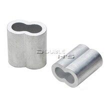 5 шт./лот 5 мм алюминиевый обжимной наконечник для троса рукава зажим для каната фитинги петля рукава