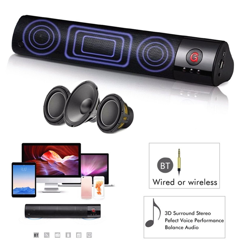 2018 FM Portable Wireless Bluetooth Speaker Stereo Subwoofer Card Insert Speaker Box Support TF Card Insert Bluetooth Hands-Free outdoor portable bluetooth speaker wireless waterproof bass loud speaker 3d hifi stereo subwoofer support tf card fm radio