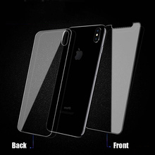 цена на Tempered Glass For iPhone X XS MAX XR 7 8 Plus Front Film Screen Protector Glass For iPhone 7 6 6S Plus 5 5S SE Safety Back Film