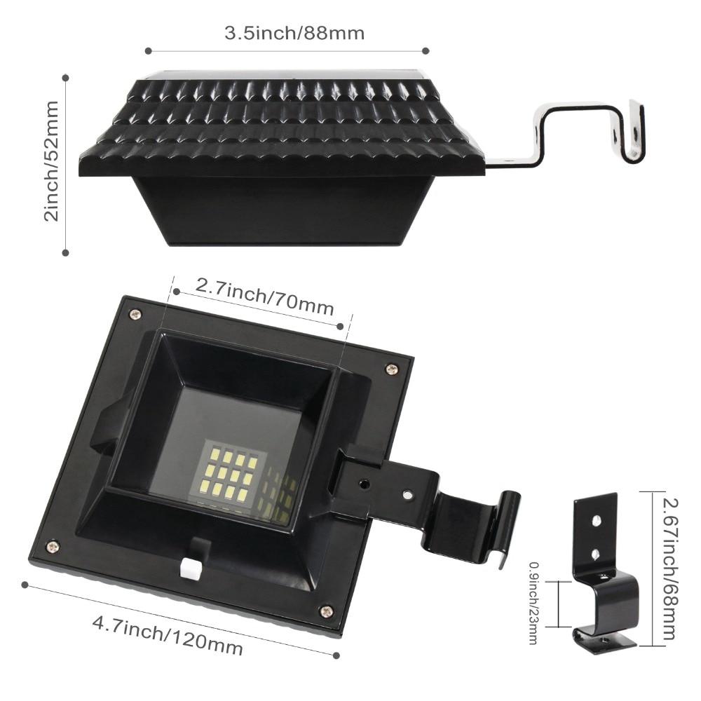 KHLITEC-4PCS-12-LED-Solar-Gutter-Light-Lamp-For-Outdoor-Garden-Fence-Security-Lawn-Light-Sensor-Outdoor-Lighting-Wall-Lamps1
