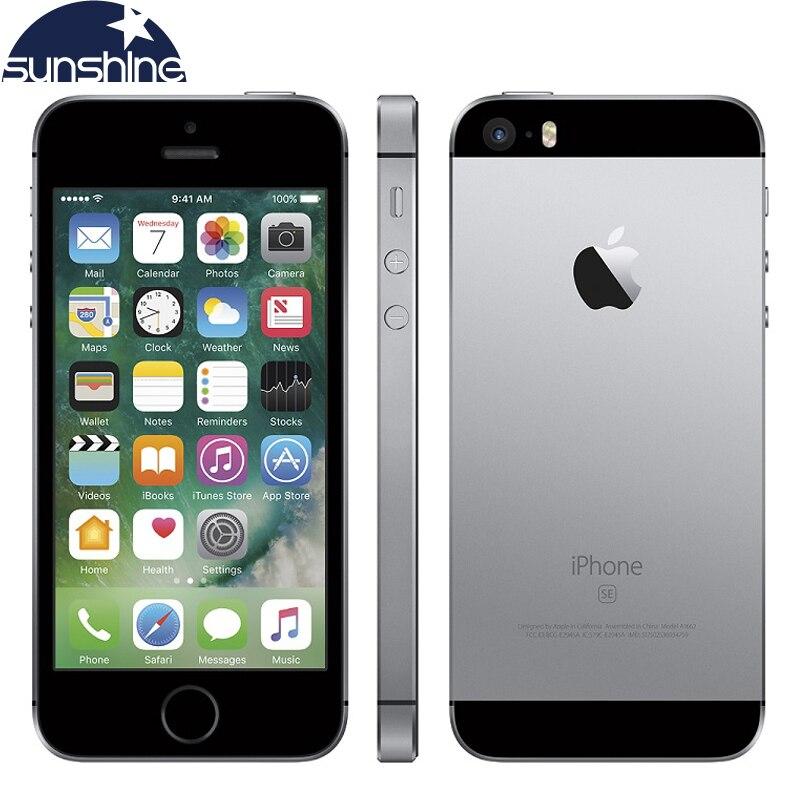 Desbloqueado iPhone Original Da Apple SE 4G LTE Mobile Phone iOS A9 Dual Core 2G RAM 16/64 GB ROM 4.0 12.0MP Digital Smartphone