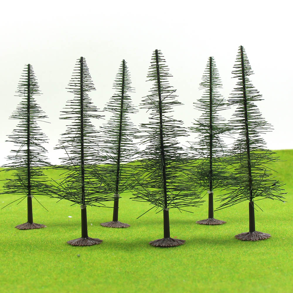 16pcs HO Z Scale Model Trees for Railroad House Park Street Layout T1