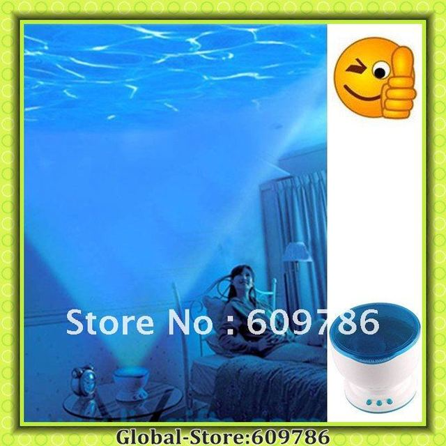 LED Ocean Projector Valentine'day gift Novelty Relax Usb port Toy Light Lamp Novelty Toys Gadget Freeshipping