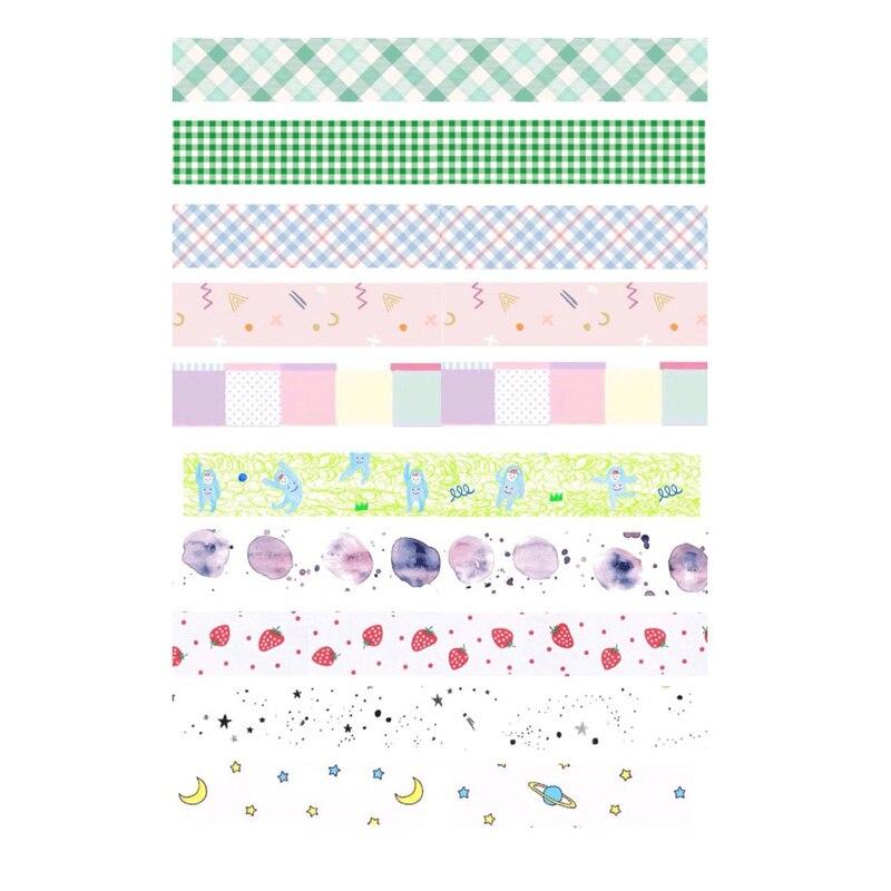 Motivado 2 Piezas Kawaii Limpio Washi Cinta Diy Decoración Scrapbooking Cuaderno Papelería Pegatinas Sin Cortar Arte Papel Planificador Diario Pegatina Los Consumidores Primero