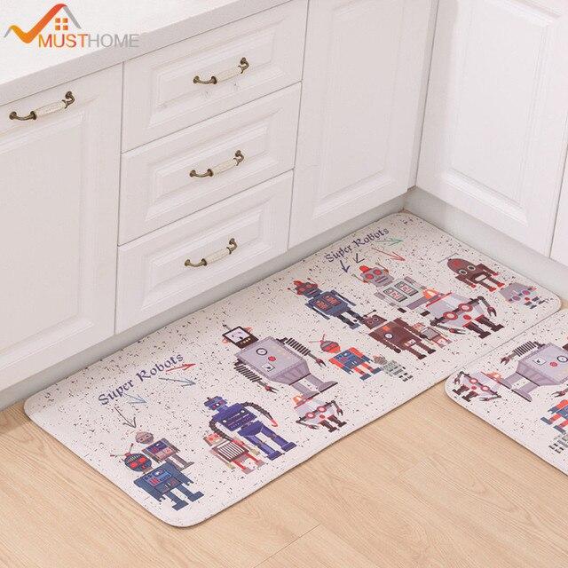 Stil Bad musthome roboter gedruckt küche bodenmatte stil bad