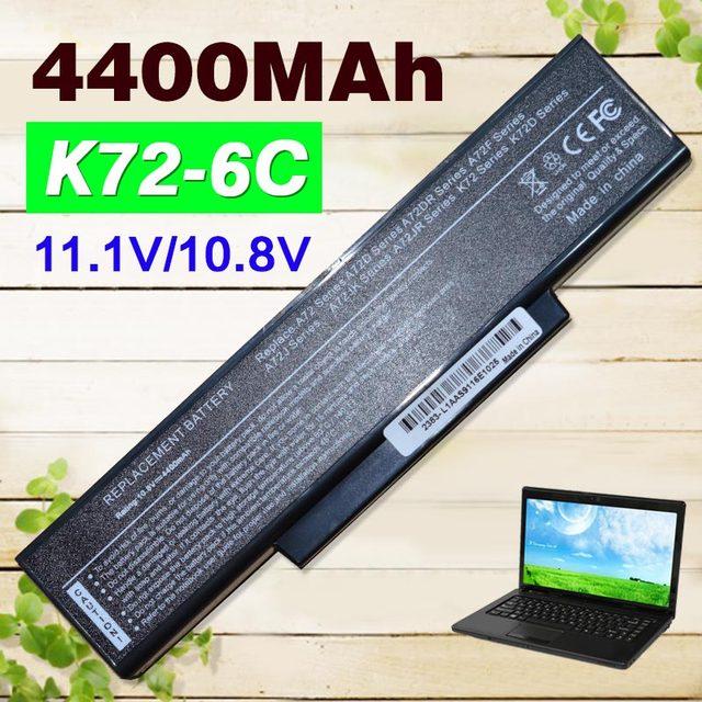 6 células bateria do portátil para asus a32-k72 a72 a72d a72dr A72F A72J A72JK A72JR K72 K72D K72DR K72DY K72F K72J K72JA