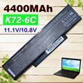 6 celdas de batería portátil para asus a32-k72 a72 a72d a72dr A72F A72J A72JK A72JR K72 K72D K72DR K72DY K72F K72J K72JA